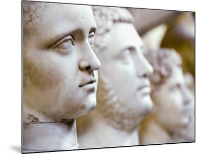 Close-Up of Statue Faces on a Shelf in the Vatican, Rome, Italy-Andrea Sperling-Mounted Photographic Print