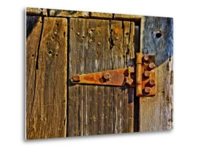 Close-Up of Rusted Door Hinge-Diane Miller-Metal Print