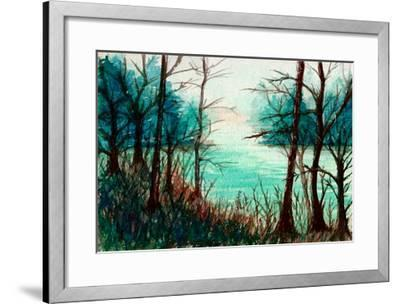 Tranquil River Scene-Rich LaPenna-Framed Giclee Print