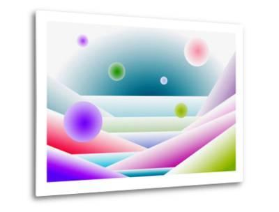Layers of Space and Round Forms-Rich LaPenna-Metal Print