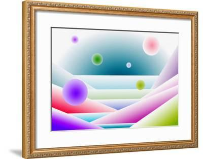 Layers of Space and Round Forms-Rich LaPenna-Framed Giclee Print