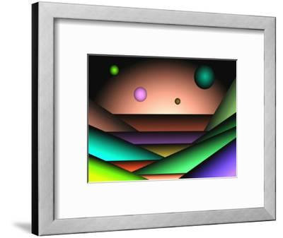 Globes Floating over Layers-Rich LaPenna-Framed Giclee Print