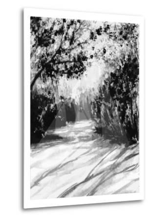 Trees and Shadows on Sand-Rich LaPenna-Metal Print