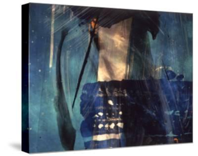 Abstract Image in Blue and White-Daniel Root-Stretched Canvas Print