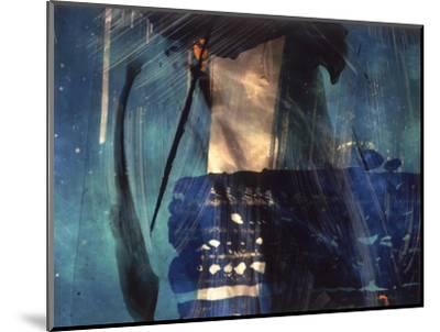 Abstract Image in Blue and White-Daniel Root-Mounted Giclee Print