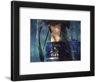 Abstract Image in Blue and White-Daniel Root-Framed Giclee Print
