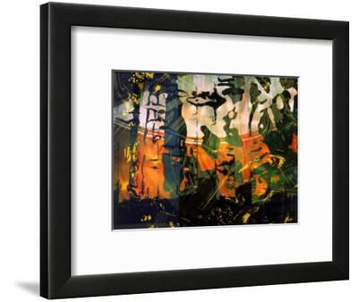 Abstract Image in Red and Green-Daniel Root-Framed Giclee Print