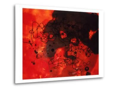 Abstract Image in Red and Black-Daniel Root-Metal Print