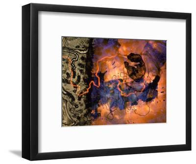Abstract Image in Red, Blue, and Green-Daniel Root-Framed Giclee Print