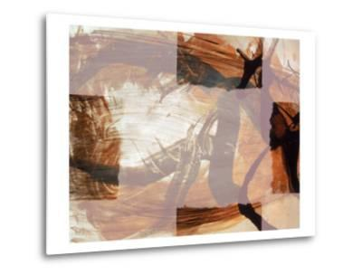 Abstract Image in Brown and White-Daniel Root-Metal Print