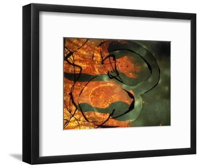 Abstract Image in Yellow, Black, and Red-Daniel Root-Framed Giclee Print