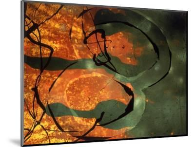 Abstract Image in Yellow, Black, and Red-Daniel Root-Mounted Giclee Print