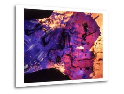 Abstract Image in Blue and Magenta-Daniel Root-Metal Print