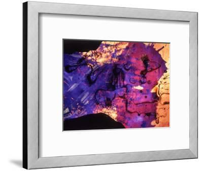 Abstract Image in Blue and Magenta-Daniel Root-Framed Giclee Print