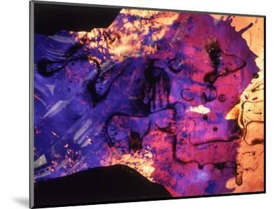 Abstract Image in Blue and Magenta-Daniel Root-Mounted Giclee Print