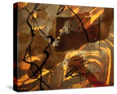 Abstract Image in Brown, Black, and Red-Daniel Root-Stretched Canvas Print
