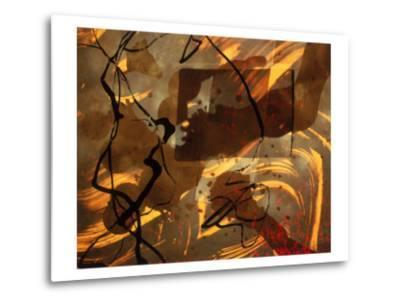 Abstract Image in Brown, Black, and Red-Daniel Root-Metal Print