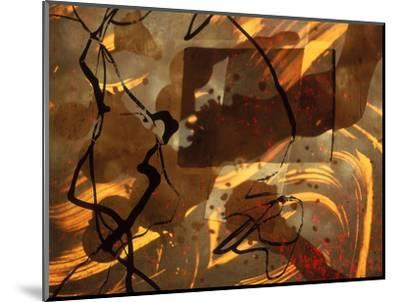 Abstract Image in Brown, Black, and Red-Daniel Root-Mounted Giclee Print