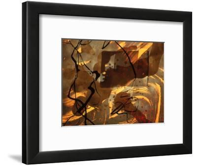 Abstract Image in Brown, Black, and Red-Daniel Root-Framed Giclee Print