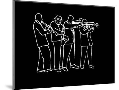 Neon Horn Band New Orleans Style-Rich LaPenna-Mounted Giclee Print