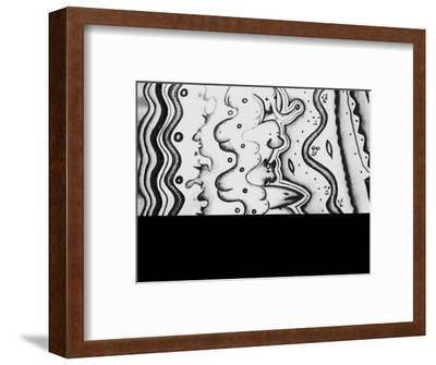 Faces of People and Animals Interwoven-Rich LaPenna-Framed Giclee Print