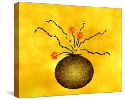 Large Vase with Floral Arrangement-Rich LaPenna-Stretched Canvas Print