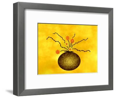Large Vase with Floral Arrangement-Rich LaPenna-Framed Giclee Print