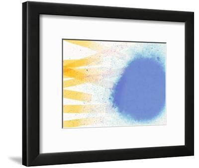 Abstract Image in Blue, White, and Yellow-Daniel Root-Framed Giclee Print