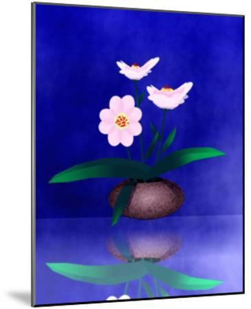 Floral Arrangement of Orchid in Vase Partly Reflected-Rich LaPenna-Mounted Giclee Print