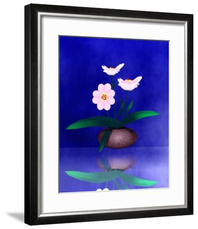 Floral Arrangement of Orchid in Vase Partly Reflected-Rich LaPenna-Framed Giclee Print