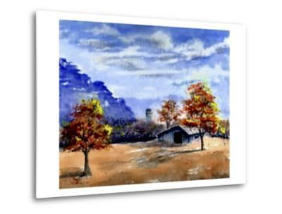 Secluded Barn in Meadow-Rich LaPenna-Metal Print