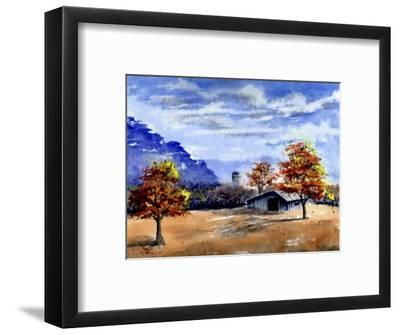 Secluded Barn in Meadow-Rich LaPenna-Framed Giclee Print