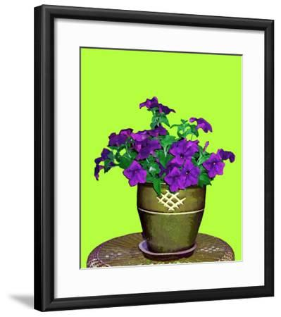 Petunia in Pot-Rich LaPenna-Framed Giclee Print