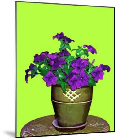 Petunia in Pot-Rich LaPenna-Mounted Giclee Print