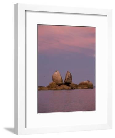 Split Rocks an Unusual Group of Rocks in Split Apple Cove-Bill Hatcher-Framed Photographic Print