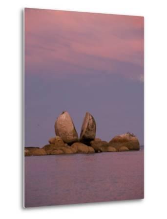 Split Rocks an Unusual Group of Rocks in Split Apple Cove-Bill Hatcher-Metal Print