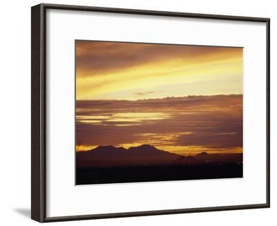 Sun Sets Behind Mountains in Arizona-xPacifica-Framed Photographic Print