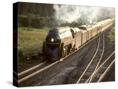 Ex-Norfolk and Western 4-8-4 Steam Locomotive No.611 on a Fan Trip-Kent Kobersteen-Stretched Canvas Print