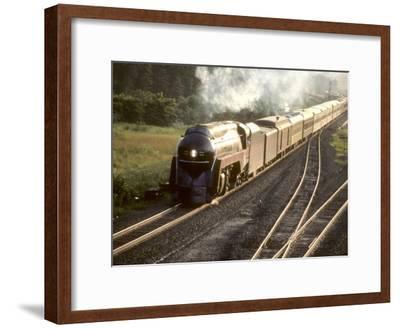 Ex-Norfolk and Western 4-8-4 Steam Locomotive No.611 on a Fan Trip-Kent Kobersteen-Framed Photographic Print