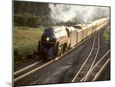 Ex-Norfolk and Western 4-8-4 Steam Locomotive No.611 on a Fan Trip-Kent Kobersteen-Mounted Photographic Print