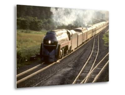 Ex-Norfolk and Western 4-8-4 Steam Locomotive No.611 on a Fan Trip-Kent Kobersteen-Metal Print