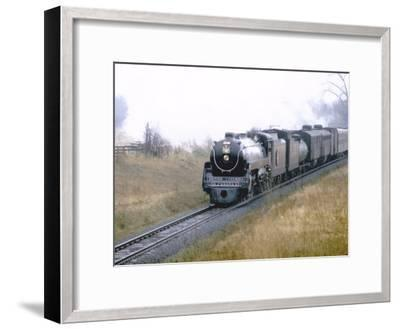 "Ex-Canadian Pacific Steam Locomotive No.2860, a 4-6-4 ""Royal Hudson""-Kent Kobersteen-Framed Photographic Print"