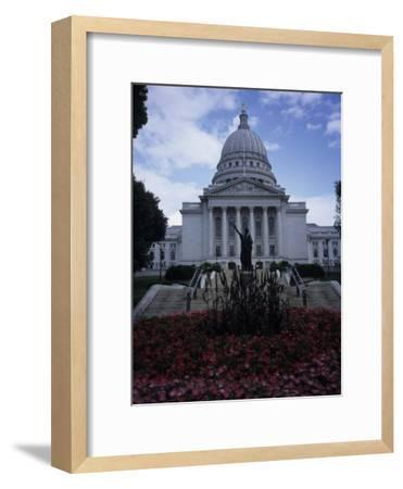 State Capitol Building in Madison-Paul Damien-Framed Photographic Print