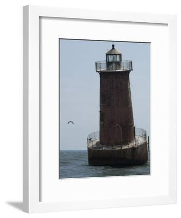 Weathered Sharps Island Light, in the Chesapeake Bay-Paul Sutherland-Framed Photographic Print