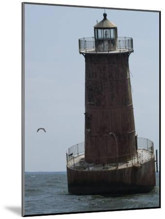 Weathered Sharps Island Light, in the Chesapeake Bay-Paul Sutherland-Mounted Photographic Print