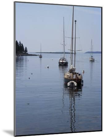 Moored Sailboat Near New Harbor, Maine-Scott Warren-Mounted Photographic Print