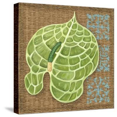 Block Print Palm IV-Chariklia Zarris-Stretched Canvas Print