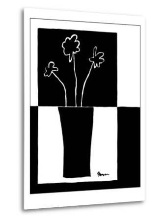 Minimalist Flower in Vase II-Jennifer Goldberger-Metal Print