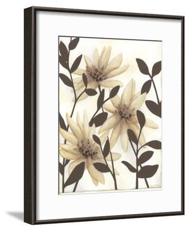 Blossoming Silhouette I-Megan Meagher-Framed Premium Giclee Print