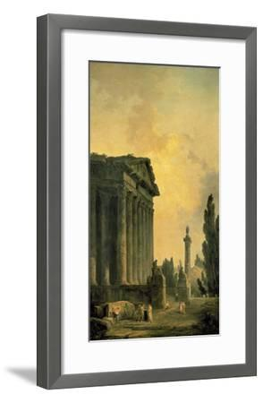 Temple Ruins-Hubert Robert-Framed Premium Giclee Print